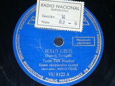 TURKISH 78rpm RECORD Polydor MESUD CEMIL Tambur TARIHI TÜRK MUSIKISI KÜME Koro