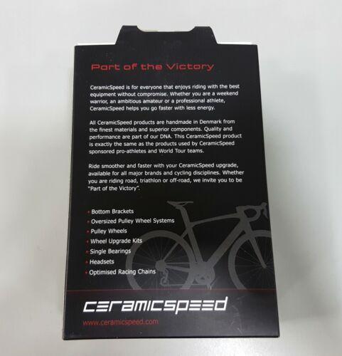 Non Coated Bottom Bracket Black CeramicSpeed 36x70mm HG24 ITA Shimano Road