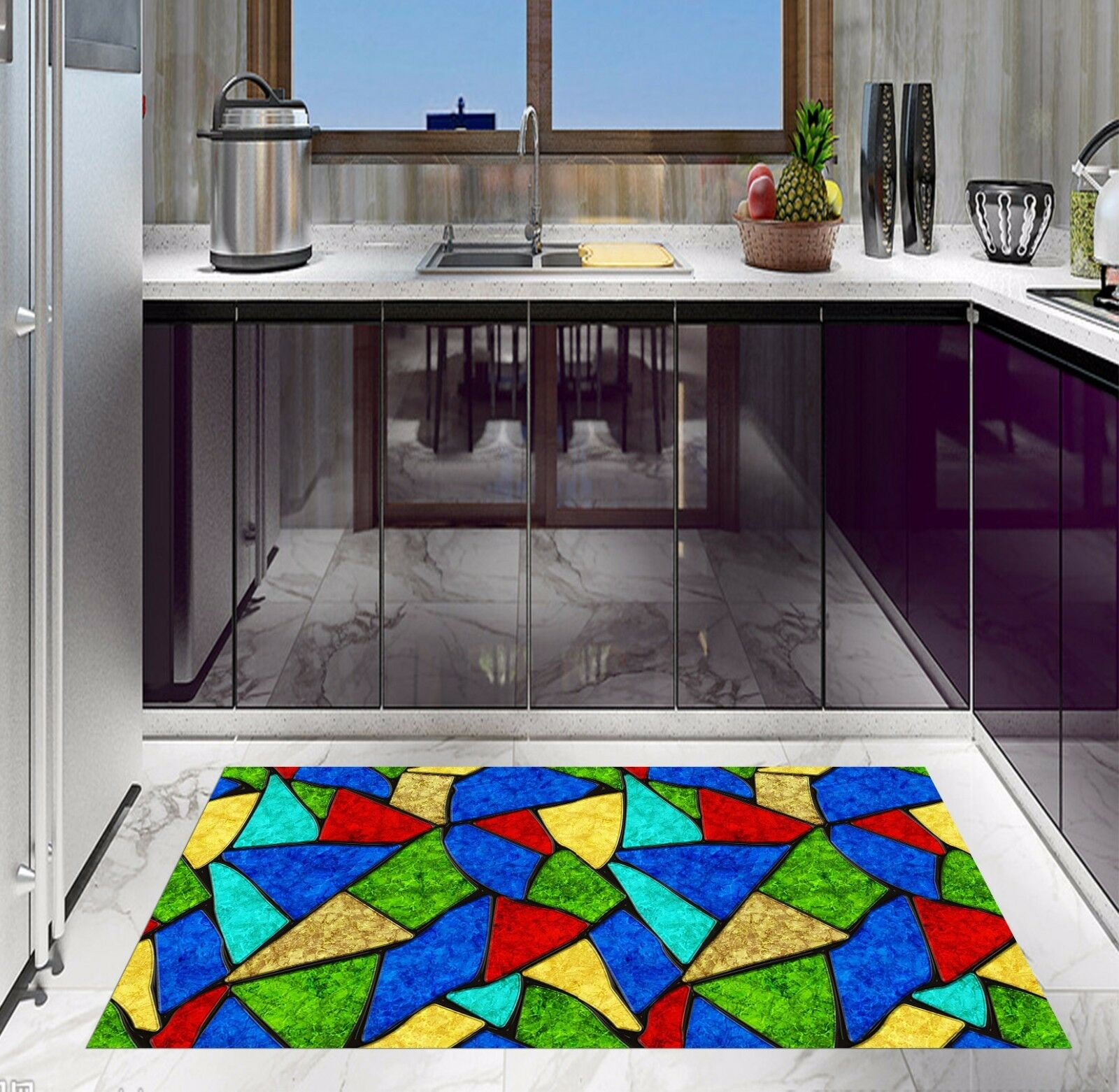 3D Farbe Pattern Kitchen Mat Floor Murals Wall Print Wall Deco AJ WALLPAPER AU