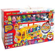 Pororo Melody School bus with 10 Figures Change to Playground play set Toy Korea