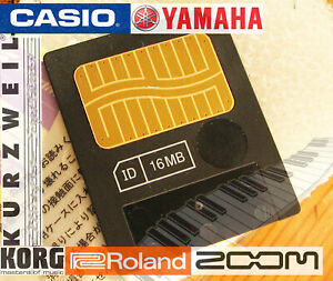 16mb Meg Smartmedia Card Memoria Tastiere Elettroniche-korg-yamaha-roland-casio