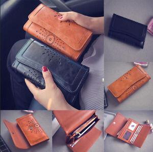 Ladies-Women-Boho-Leather-Wallet-Handbag-Clutch-Bag-Phone-Card-Holder-Long-Purse