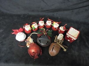 Set-di-12-Assortiti-Albero-Natale-Decorativo-Ornamenti-amp-Piccolo-Ceramica-Box