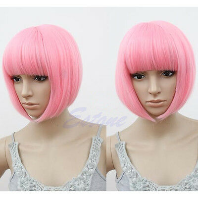 Vogue Sexy Women BOBO Head Style Straight Bang Short Wigs Hair Cap Hairnet Hot