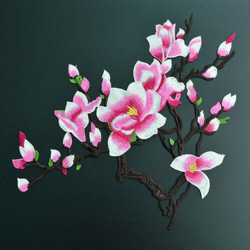 3Pcs Pfirsichblüte Stickerei Kragen Applique Annähen Patch Büste-Kleid Cheongsam