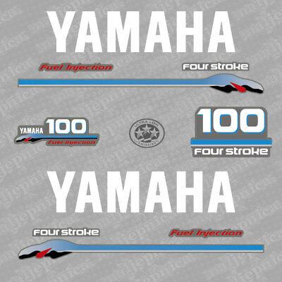Yamaha 130 four stroke outboard decal aufkleber addesivo sticker set 2002-2006