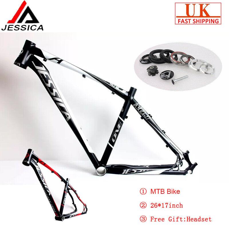 JESSICA Frame 17 Aluminium Alliage Disque 1600g BB92 Ultra-léger MTB Vélo Cadres