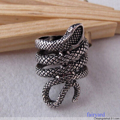 Fashion Retro Vitage Cool Punk Gothic Twisted Snake Ring Rings For Men Women