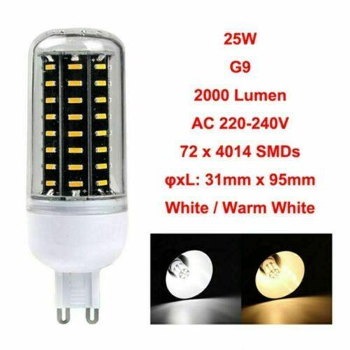 E27 E14 B22 GU10 G9 4014SMD LED Corn Bulb Clear Lamp 220V 12W 18W 25W 30W 35W