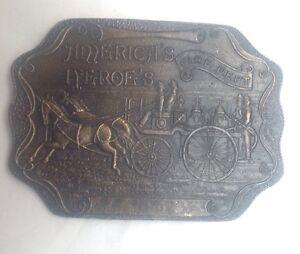 American-Heroes-Fire-Dept-Belt-Buckle-Classic-Vintage-American-Retro