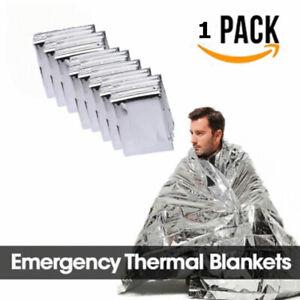 1x-Thermal-Emergency-Blanket-Survival-Safety-Insulating-Mylar-Heat-130-210cm
