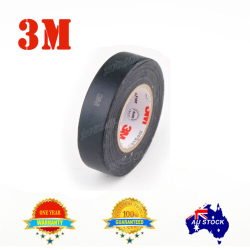 3M 1 reel 20 meters genuine Premier Grade Black Electrical Tape for LED light AU
