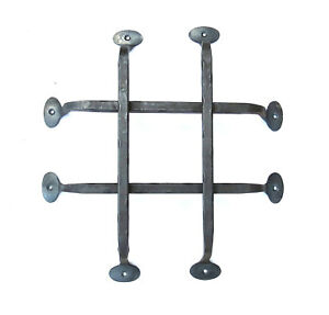 Image Is Loading Wrought Iron Door Grill Hand Forged Rustic Antique