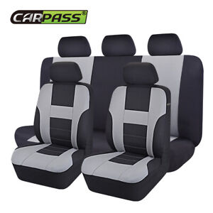 Universal-Car-Seat-Covers-Polyester-Black-Grey-for-SUV-VAN-TRUCK-SEDAN-HOLDEN-VW