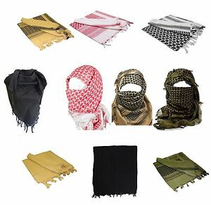 100-Cotton-SHEMAGH-HEADSCARF-Colour-Option-Military-Keffiyeh-Arab-Army-Wrap