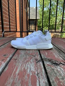Adidas-Men-039-s-Originals-NMD-R1-Shoes-AUTHENTIC-White-SIZE-10-5-Mint-Condition
