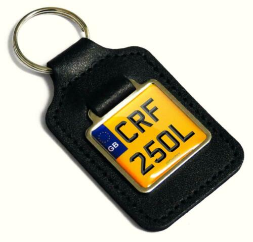 Honda CRF 250L Reg Number Plate Leather Keyring Keyfob for CRF 250 Rally