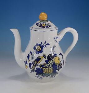 Spode-034-Blue-Bird-034-Kaffeekanne-ca-1-Liter