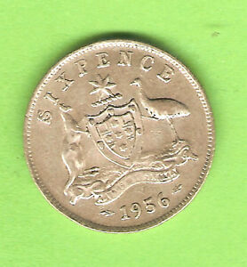 1956-AUSTRALIAN-SILVER-SIXPENCE-COIN