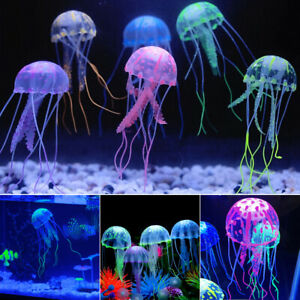 Glowing-Effect-Aquarium-FLOATING-JELLYFISH-Jelly-Fish-Tank-Ornament-Decoration-F