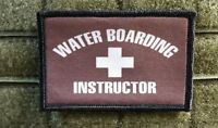 Waterboarding Instructor Morale Patch Brown Hook Backed Special Forces Usmc Army