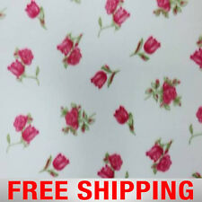 "Fleece Fabric Roses 60"" Wide Free Shipping Style PT 125"