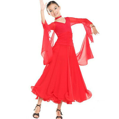 NEW Childrens Latin Salsa Ballroom Dance Dress Girls Dancewear costumes #FY041