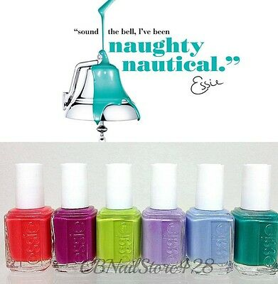 ESSIE Nail Lacquer- Naughty Nautical Collection Summer '13- All 6 Shades 837-842