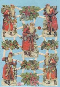 Oblaten, Glanzbilder, Scrap EF7361 mit Glimmer, Weihnachtsmann<wbr/>, Santa, Nikolaus