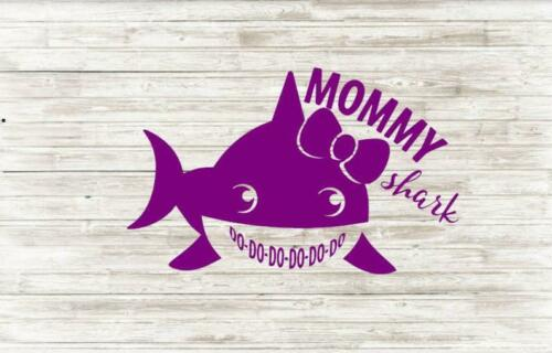 Mommy Shark// Laptop Decal// Tablet sticker// Mom// Decals//Decor//Peel and Stick