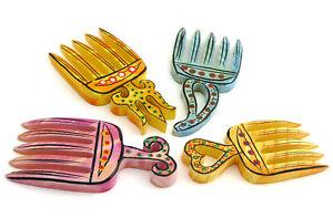 Haarschmuck, Steckkamm, Schmuck-Kamm, verschiedene Farben, bunt, Holz