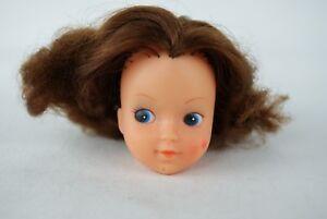 Otto-Simon-FLEUR-brunette-head-doll-painted-eyelashes-Dutch-Sindy-70-039-s