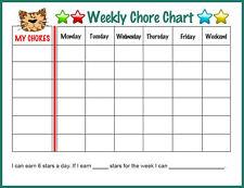 A5 per Bambini Tigre settimanale delle faccende domestiche'S Grafico e Star Stickers (Reward camera da letto)