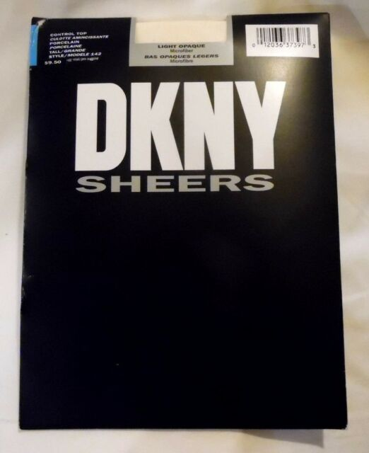 NEW DKNY 2-PAIR LIGHT OPAQUE CONTROL TOP PANTYHOSE SZ:TALL $34.00 MADE IN USA