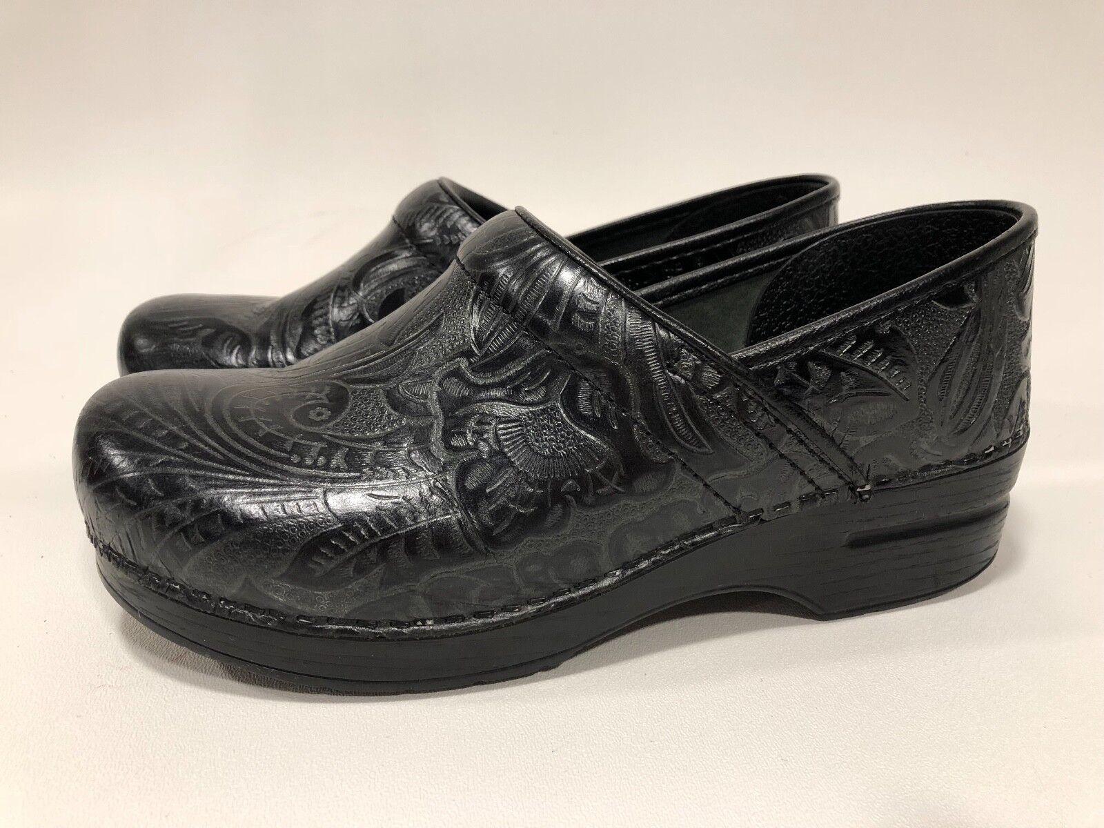 DANSKO Women Professional Tooled Clog Black Black Black sz 41 d16ba4
