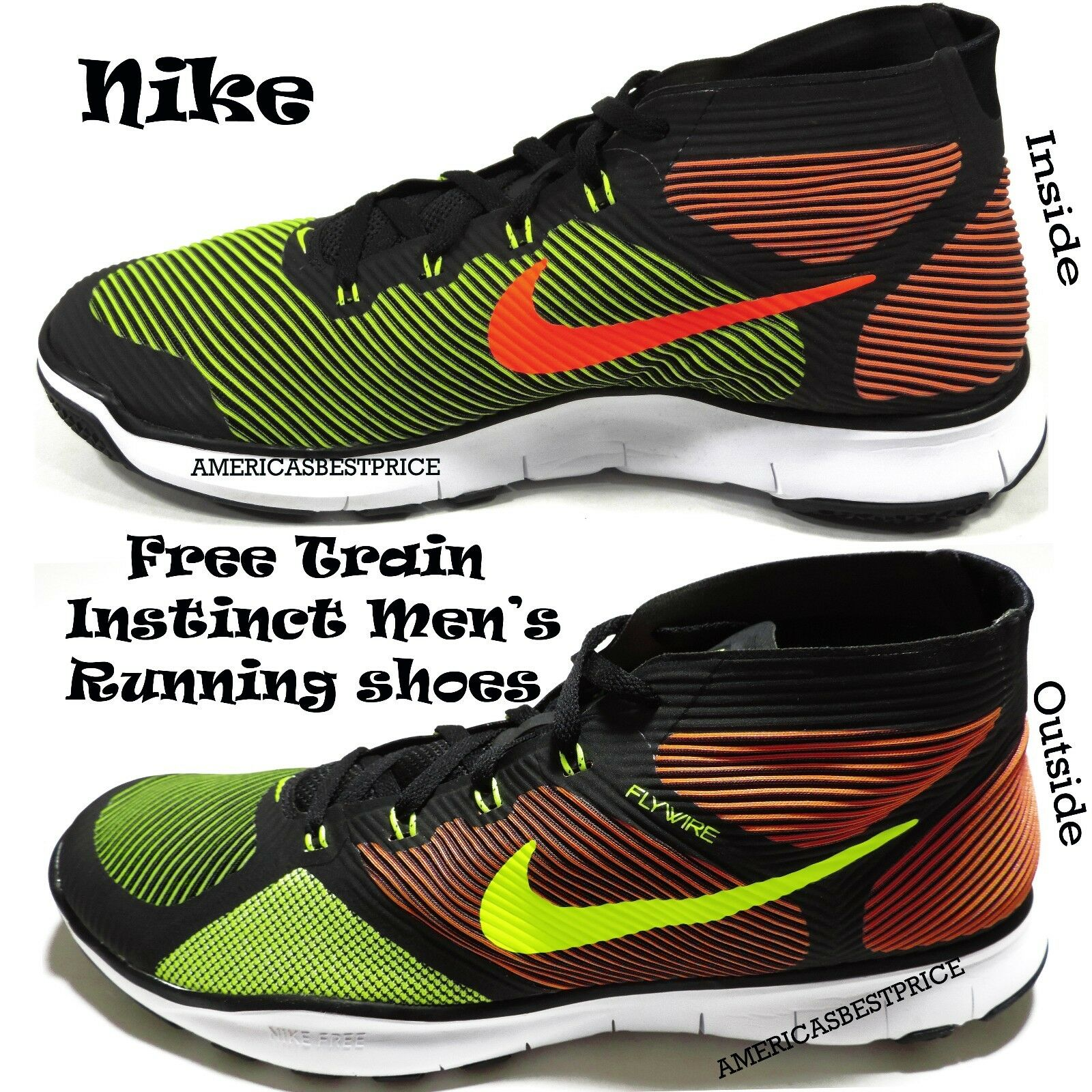NIKE NEW MENS FREE TRAIN INSTINCT TRAINING RUNNING SHOES SNEAKERS SIZE 10 NWT