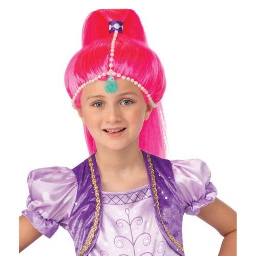 Girls Shimmer and Shine Pink Genie Shine Wig