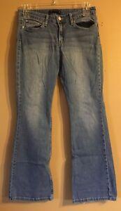 déchiré Taille Levi's moyen délavage bootcut 518 Jeans Superlow Womens 9 zpwIz
