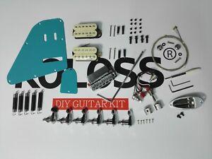 Koloss Low Gloss Blue Aluminum Alloy Electric Guitar DIY Kit |GT-4 BLUE DIY|