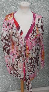 20-2-3-Jean-Paul-Berlin-blusa-de-mujer-talla-42-Patron-flores-rojo-rosa