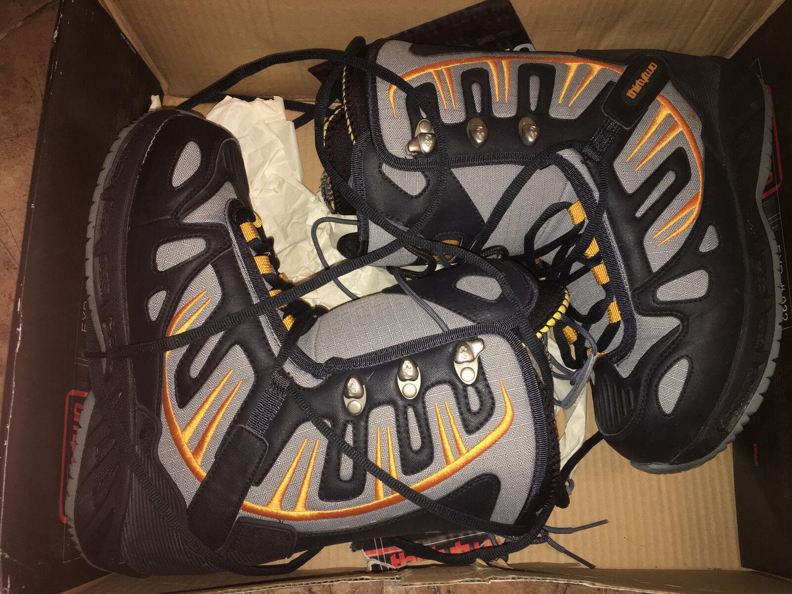 MEN'S THIRTY TWO ADVANCED SNOWBOARD FOOTWEAR PRION NAVY GREY orange SIZE 9