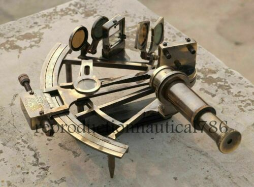 Antique Brass KELVIN /& HUGHES Sextant Astrolabe Sextant Maritime Working Gifts