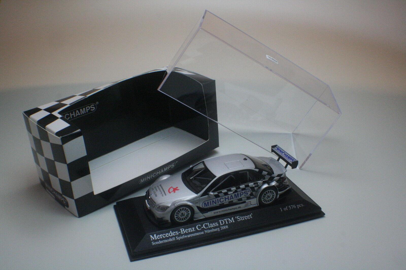 Mercedes Benz C-CLASS DTM toy fair nuremberg 2008 Minichamps 1 43 Nouveau neuf dans sa boîte