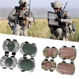 Militaer-Taktische-Knieschoner-Knieschuetzer-Schutzausruestung-mit-Ellbogenschoner