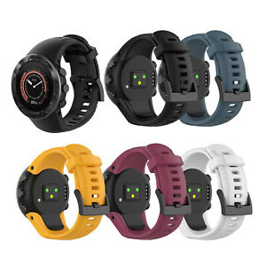 Silikon-Uhrenarmband-Armband-Wristband-Watch-Strap-fuer-Suunto-5-Watch