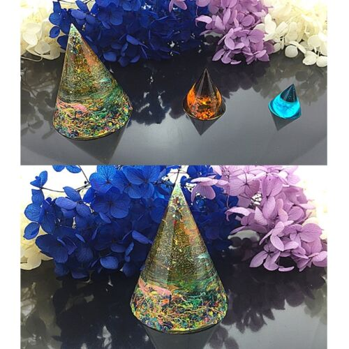 DIY Silicone Cone Mold for Resin Epoxy Casting Jewelry Making Craft Tools Mould