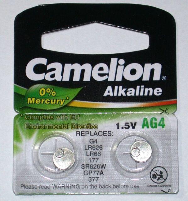 3x CAMELION ALKALINE 1,5V KNOPFZELLE AG4 2er Blister LR626 377 LR66