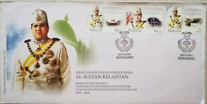 Malaysia FDC with Stamps (29.02.2004) - Silver Jubilee of Sultan Kelantan