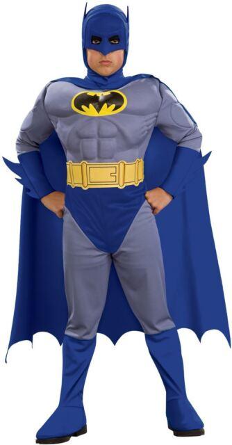 Child BATMAN CLASSIC Boys Bold Superhero Mask Fancy Dress Costume Kids Age 3-10