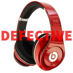 Defective Beats Studio 1 0 1st Gen Wired Over Ear Headphones Red 1729597642 Ebay